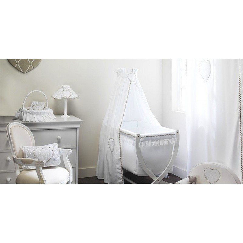 voile de lit emma blanc univers baby. Black Bedroom Furniture Sets. Home Design Ideas