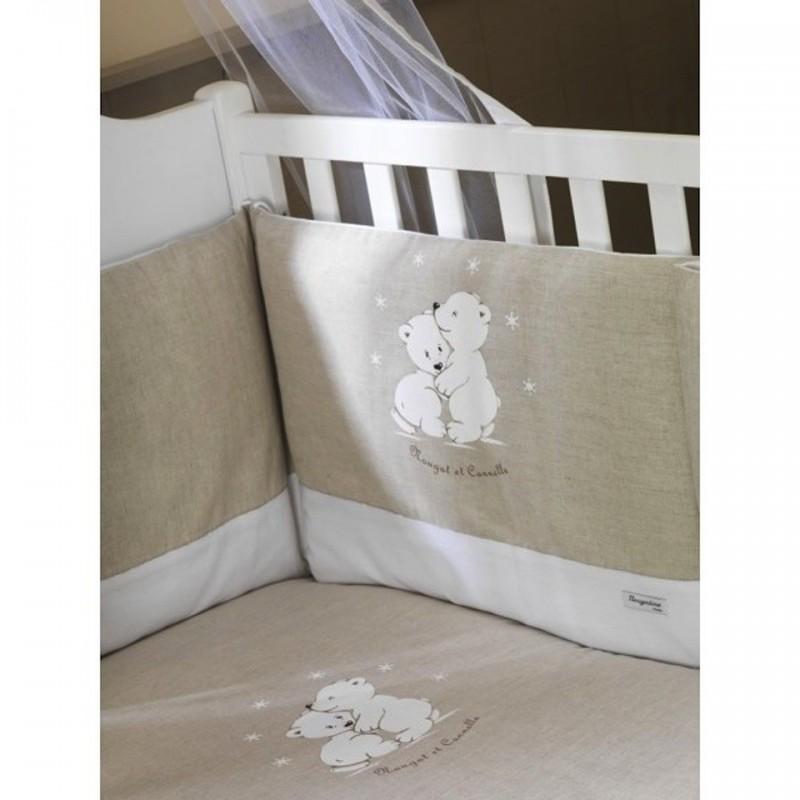 tour de lit nougat et cannelle univers baby. Black Bedroom Furniture Sets. Home Design Ideas