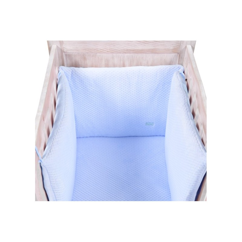 tour de lit beryl bleu nougatine. Black Bedroom Furniture Sets. Home Design Ideas