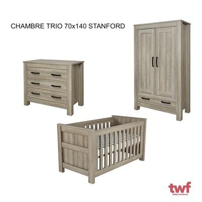 Chambre complète Stanford avec lit 70x140