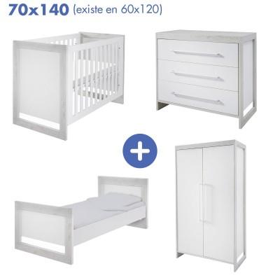 Chambre Frame avec lit 70x140